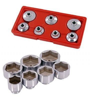7pc Oil Filter Wrench Socket Set Low Profile Neilsen CT4280